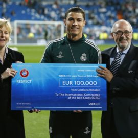 """Most Charitable Sport Stars: Ronaldo Tops the List<span class=""""rating-result after_title mr-filter rating-result-968"""" ><span class=""""no-rating-results-text"""">No ratings yet.</span></span>"""