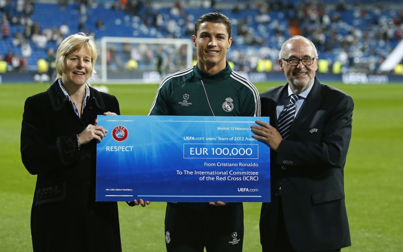 most charitable sport stars ronaldo