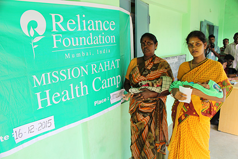 CSR activities of Reliance Foundation.